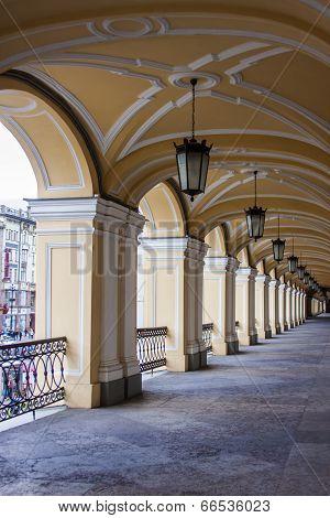 St. Petersburg, Russia. Gallery building arcade