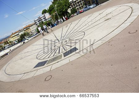 Sundial, Le Cadran Solaire In Nice, France
