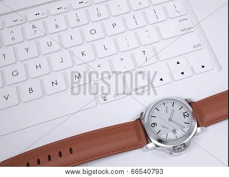 Watch on the keyboard