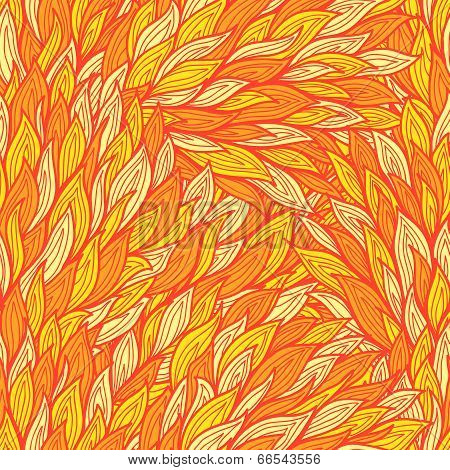 Stylized Seamless Fire Background With Abstract Flames