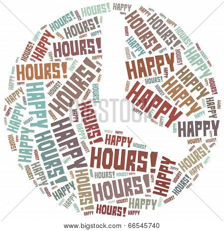 Tag Cloud Illustration Related To Happy Hours
