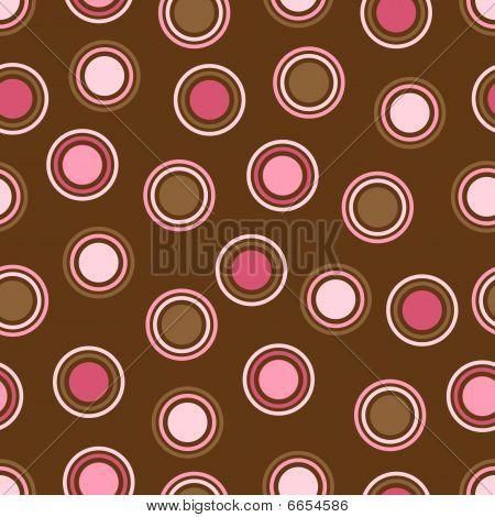 Brown And Pink Polka Dots