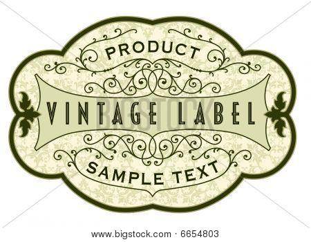 Vintage Product Label