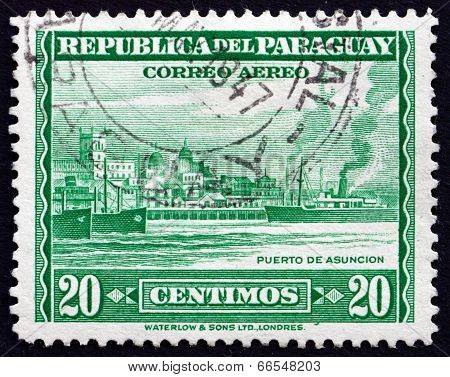 Postage Stamp Paraguay 1946 Port Of Asuncion