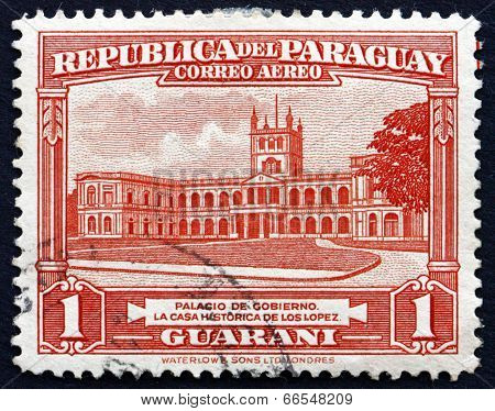 Postage Stamp Paraguay 1946 Government House