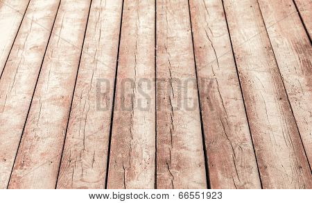 Old Wooden Floor Perspective. Background Photo Texture