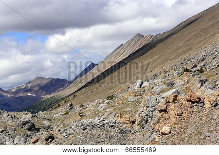 Jagged Mountains From A Remote Pass