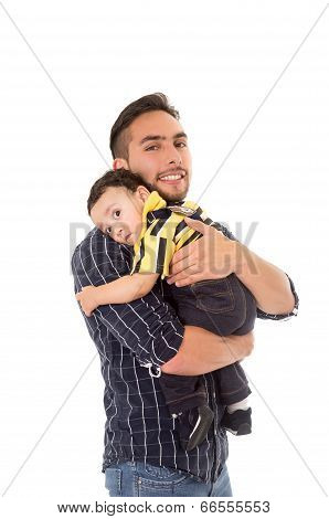 father and son hispanic