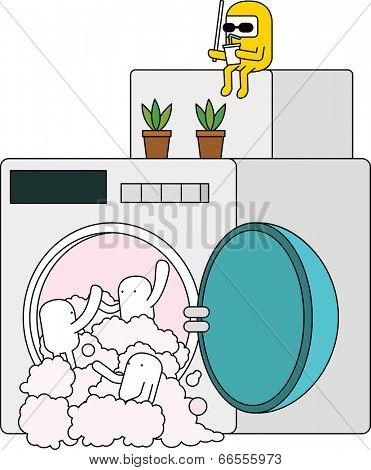 The view of washing machine
