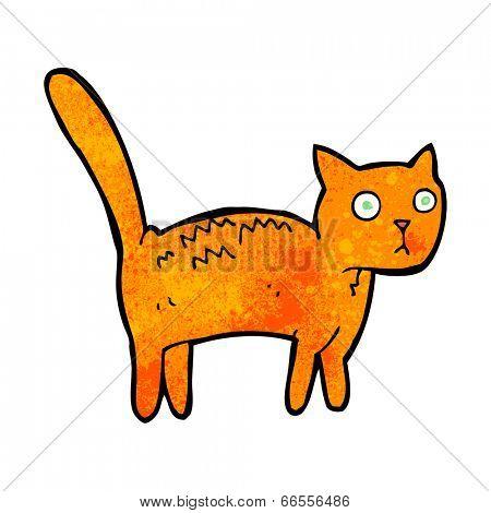 cartoon frightened cat