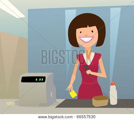 cashier woman