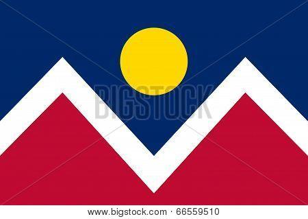 Flag of Denver city Colorado, Authentic version
