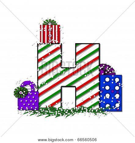 Alphabet Chrimassy Letters H