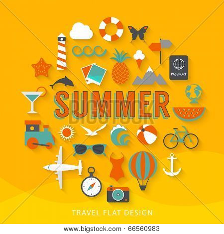 Summer flat design illustration