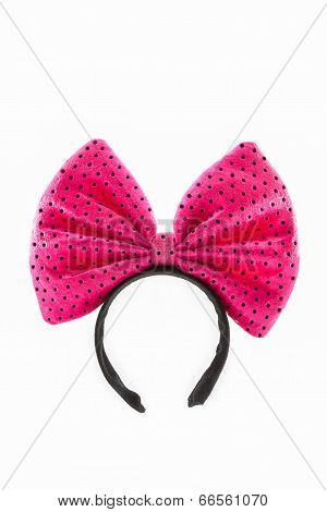 Head Bands With Pink Bow.