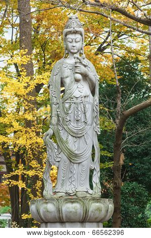 Chinese Goddess At Zojoji Temple in Tokyo