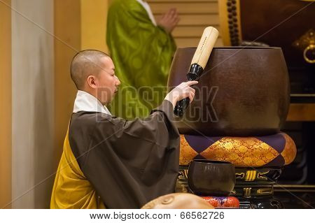 Japanese Monk at Shichi-go-san Ceremony