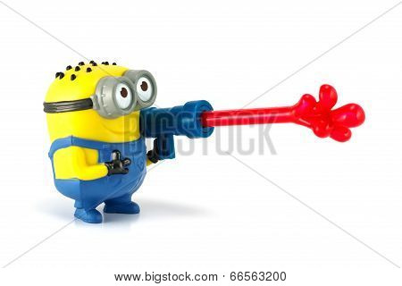 Minion Phil Jelly Whistle Figure Toy.