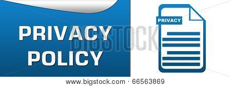 Privacy Policy Blue White Horizontal
