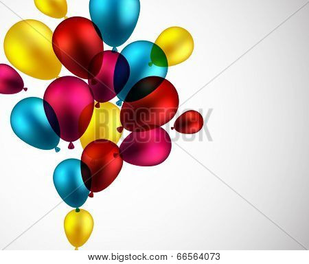 Celebration background with colorful balloons. Vector illustration.