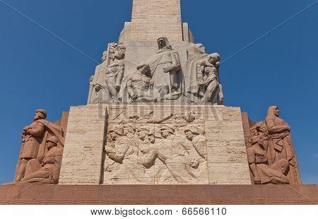 Freedom Monument In Riga, Latvia (fragment)