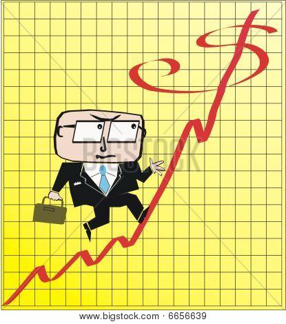Business profit cartoon