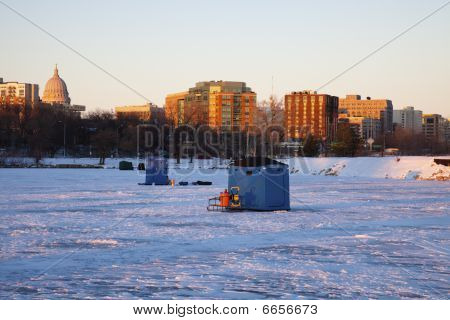 Ice Fishing In Madison