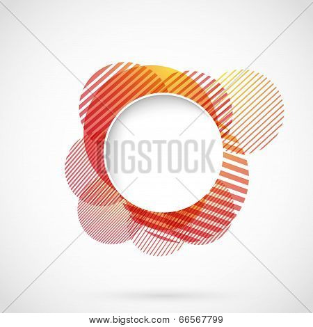 Bright Red Circle Advertising Background Template