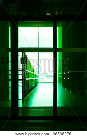 Entrance to  office toned photo