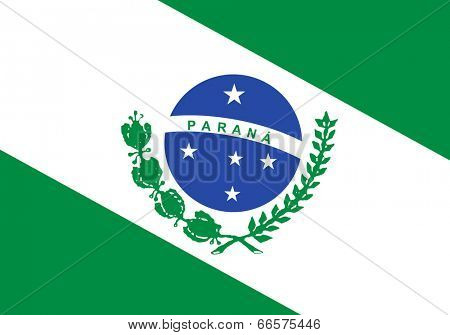 State flag of Parana in Brazil.