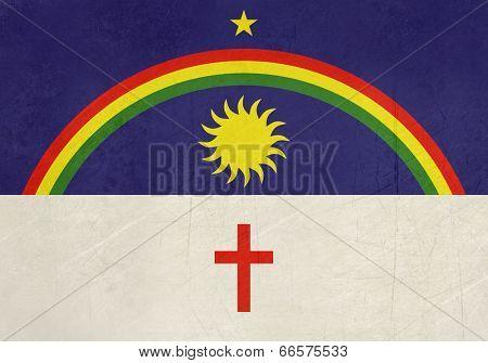 Grunge state flag of Pernambuco in Brazil.