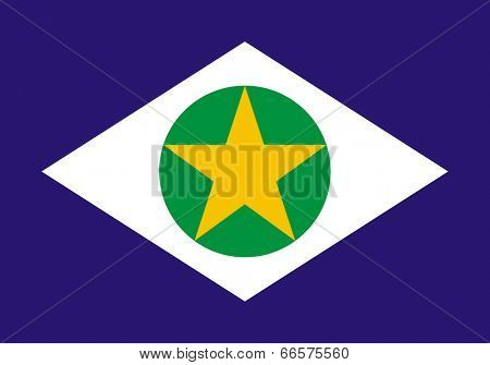 State flag of Mato Grosso in Brazil.