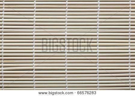 Fragment Of Bamboo Mat