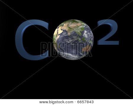 CO2 - Climate Change - 3D