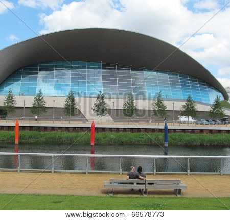 LONDON- JUNE 10: The public can now swim in the London Aquatics Centre, in the queen elizabeth olympic park at stratford. The centre was designed for the 2012 london olympics. LONDON, JUNE 10, 2014.