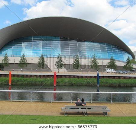 LONDON- JUNE 10: The public can now swim in the London Aquatics Centre, in the queen elizabeth olymp