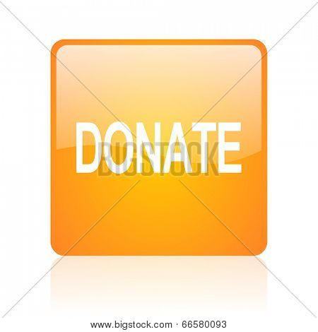 donate computer icon on white background