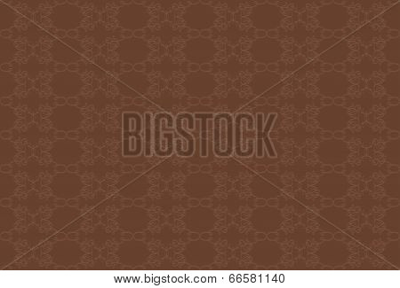 brown background with beige pattern.