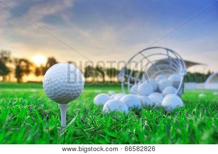 Golf game.