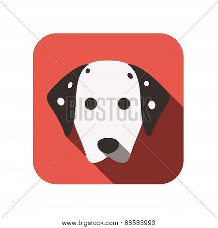 Dalmatian dog animal flat icon