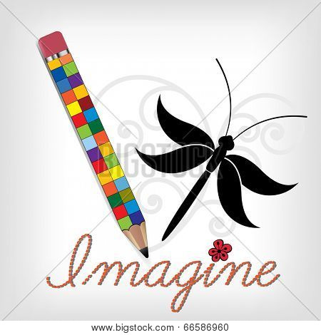 Creative pencil  IMAGINE