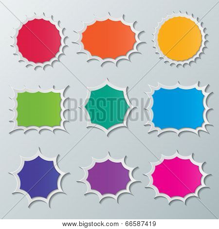 Starburst Speech Bubbles