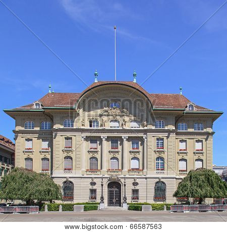 Swiss National Bank Facade
