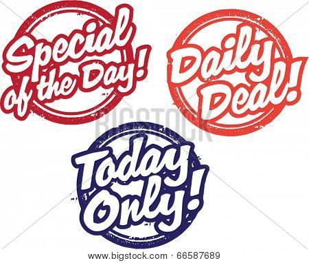 Daily Special Sale Stamps