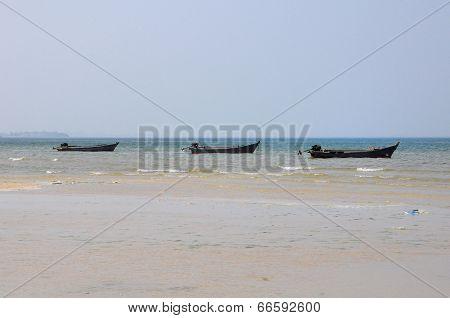 Three Boats Floating