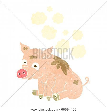 cartoon smelly pig