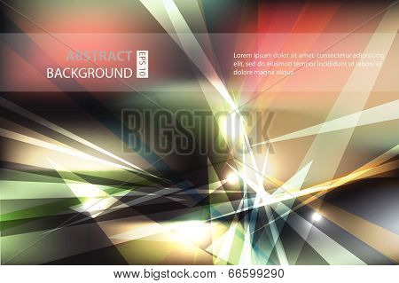 Abstract geometric triangle, fly away, vector background