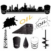 image of auger  - Set oil industry facilities - JPG