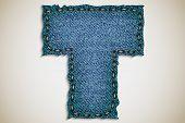pic of denim wear  - Denim letter alphabet texture jeans - JPG