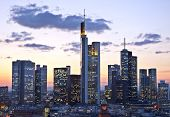 pic of frankfurt am main  - View of the skyline of Frankfurt am Main at night - JPG